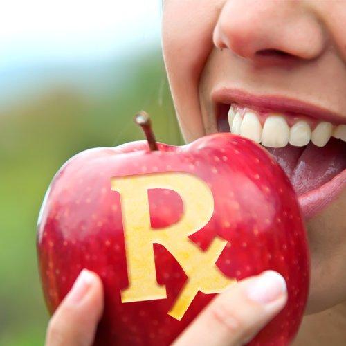 2017_02_feb_quotecard_food_is_medicine_apple_Rx